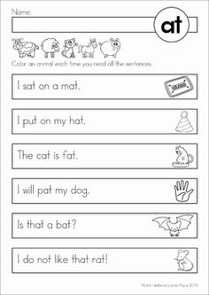 Most Popular Teaching Resources: Word Family Reading Fluency