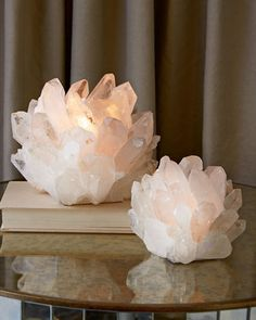 Kathryn McCoy Design Clear Quartz Votive Holders (must find less expensive options)