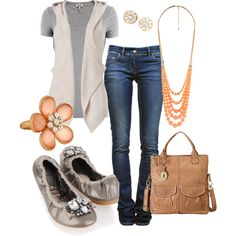 Love the ballet flats and the hooded vest. And pretty much everything about this!