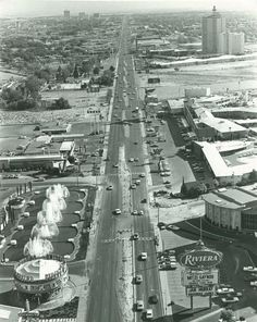 Old Vegas pic. You can see the fountains of circus circus and the Rivera