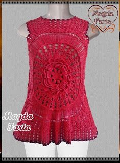 Crochê  Magda Faria  : Regata Brigitte