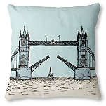 MR WINGATE Tower Bridge cushion cover with pad