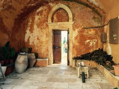 Ancient olive jars, monastery Crete