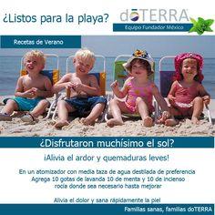 #Quemaduras de #sol #alivia #naturalmente #playa #verano #niños #AceiteEsencial de #Lavanda #doterra