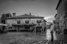 Rainning in San Gimignano