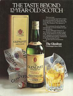 =-=The Glenlivet Scotch Whisky Original 1981 Vintage Print