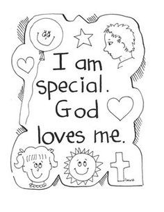 God Made Me Special Coloring Page Coloring Pages Pictures