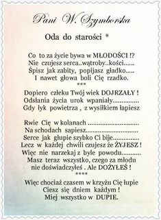 Oda do starości - Pozytywniej. Motivational Quotes, Funny Quotes, Inspirational Quotes, Mommy Quotes, Life Quotes, Polish Words, Weekend Humor, Miracle Morning, More Than Words