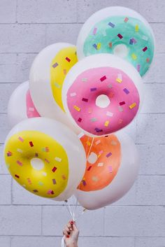 globos con forma de donuts