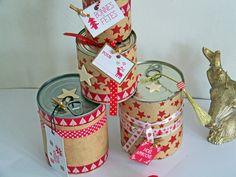 DIY Les # conserves recyclées en boîtes  cadeaux !