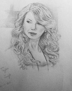 Drawing - Taylor Swift  https://www.facebook.com/Anouktekent http://xxanouk95.deviantart.com/