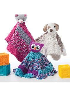 All 3 of these easy crochet blankets are made using just 1 ball of the new DMC Top This! Yarn. The bright & colorful yarn is made up of three continuous textures and comes with a whimsical character! It simply does not get any easier than this!