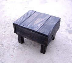 Handmade Repurposed Pallet Wood Footstool, Stepping Stool, Kids Foot Stool