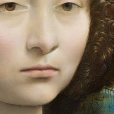"The careful observation of nature and subtle three-dimensionality of Ginevra's face show the new naturalism with which Leonardo would transform Renaissance painting. This was one of the first portraits created in Florence that showed a sitter outdoors.  Leonardo da Vinci, ""Ginevra de' Benci [detail],"" c. 1474/1478, oil on panel"