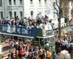 April 1979 - The Albion celebrate promotion to the First Division - view from our flat in Sackville Road Hove