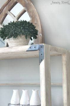 Build your own shelf with free plans and step by step instructions using the Kreg pocket hole jig. Woodworking Journal, Woodworking Wood, Woodworking Projects, Build Your Own Shelves, Craft Room Tables, Diy Furniture Plans Wood Projects, Rustic Shelves, Wood Plans, Barn Wood