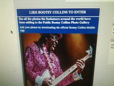 Mobile App Submited Photo from Bootsy App Bootsy Collins, Photo Contest, Mobile App, Photo Galleries, Pageant Photography, Photography Challenge, Mobile Applications