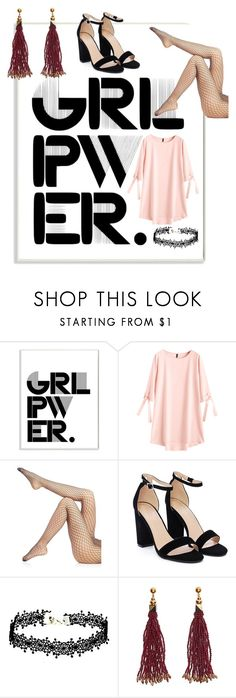 """""""Girl Power - Contest"""" by noddie-musa ❤ liked on Polyvore featuring Stupell, Wolford, Nasty Gal, Nocturne, girlpower and powerlook"""