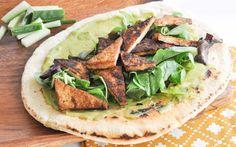 Crispy Curry Tofu Wrap With Homemade Tortillas and Avocado Mayo [Vegan]