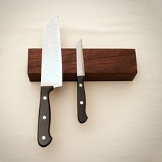 Brooklyn Butcher Block- Knife Rack- available at Design With Benefits  Saves space on your counter and in your drawers. 100% handcrafted American made  $75