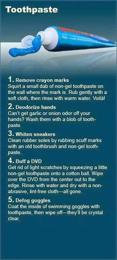 Toothpaste to remove crayon marks - and other surprising remedies!