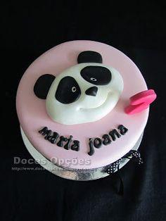 Doces Opções: Bolo de aniversário com o Panda
