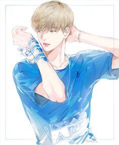 kang daniel Perfect Peach, First Art, Anime Chibi, Boy Groups, Illustrators, Hot Guys, Fan Art, Cartoon, Manga
