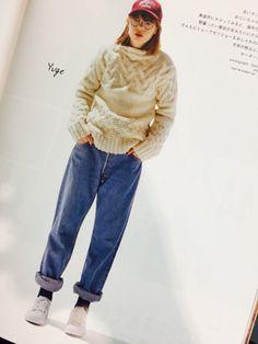 CLUEL Denim Fashion, Look Fashion, Teen Fashion, Winter Fashion, Womens Fashion, First Day Outfit, Autumn Clothes, Denim Trends, Japan Fashion