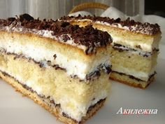 "Recepty z Leakey: ""Swiss Cake"" Russian Cakes, Russian Desserts, Russian Recipes, Mini Desserts, Delicious Desserts, Baking Recipes, Cake Recipes, Dessert Recipes, Torte Cake"