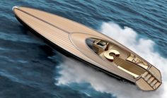 60 foot concept yacht that combines classic wood construction with modern style and amenities.