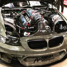 From: ayyyrayyy - #hgk gets my vote for dopest build at sema. This car left me breathless. The carbon kevlar body really tied it all together! @hgkracing #hgk #m3 #lsswaptheworld #mastmotorsports #mast #kn #motul #aeromotive #bmw -  More Info:https://www.instagram.com/p/BbAU5GGHi2Q/