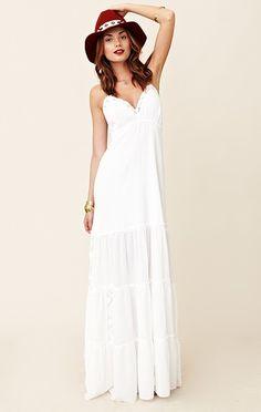 I need a long white summer dress: Michelle Jonas Gauze Chelsea ...