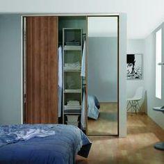 Aida Walnut Framed Mirror 914mm - Sliding Wardrobe Doors - Sliding Wardrobe & Cabinet Doors -Doors & Windows - Wickes