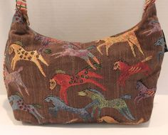 Laurel Burch Equestrian Horses Tapestry Handbag Purse #LaurelBurch #ShoulderBag