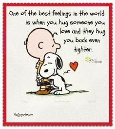 Snoopy and Charlie Brown.I love you Charlie Brown. Snoopy Love, Charlie Brown Und Snoopy, Snoopy And Woodstock, Snoopy Hug, Charlie Brown Valentine, Snoopy Beagle, Good Morning Hug, Good Morning Quotes, Sunday Morning