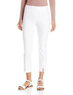 Tribal Women's Zip Front Stretch Capri Pant *** For more information, visit
