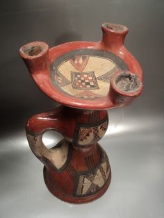ANCIENNE GRANDE LAMPE HUILE CÉRAMIQUE KABYLE BERBERE IDEQQI ALGERIE KABYLIE   JPEGbay.com
