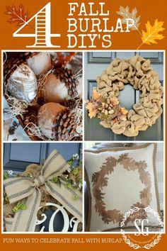 4 FALL BURLAP DIY'S Creative ways to celebrate fall with burlap