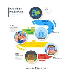 Timeline Vectors, Photos and PSD files Timeline Infographic, Free Infographic, Flat Illustration, Grafik Design, Design Reference, Brochure Design, Vector Free, Web Design, Exotic Birds