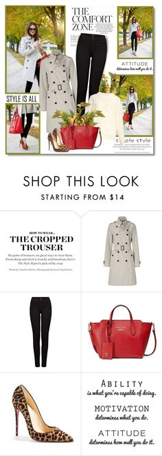 """Attitude is a little thing that makes a big difference!!"" by lilly-2711 ❤ liked on Polyvore featuring Burberry, J Brand, Gucci and Christian Louboutin"