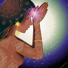 ♥ॐ Namaste ॐ♥ Meditation Art, Chakra Meditation, Yoga Art, Kundalini Yoga, Yoga Kunst, Art Visionnaire, Visionary Art, Divine Feminine, Archetypes