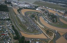 Racing circuit in Le Mans, France
