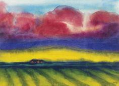 Emil Nolde, Marschlandschaft mit Bauernhof, circa 1935 on ArtStack #emil-nolde #art