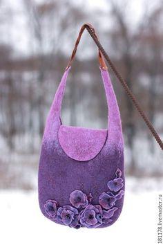 Женские сумки ручной работы. Сумочка валяная