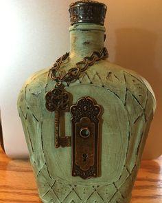 Refurbished crown royal bottle.