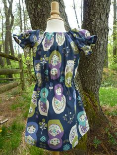 Matryoshka peasant girls spring/summer dress size by BenneboKids, $28.00