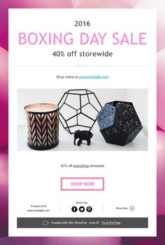 BOXING DAY SALE - 40% off storewide Boxing Day, Scented Candles, Shout Out, Shop Now, Create