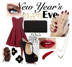 """New years eve"" by rhi1238 ❤ liked on Polyvore featuring Glamorous, Christian Louboutin, Urban Expressions, Michael Kors, TheBalm, Tory Burch and Maybelline"