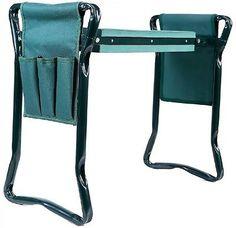 Folding-Garden-Kneeler-Seat-Bonus-Tool-Pouch-Patio-Furniture-Cushion-Portable