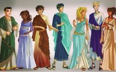 The Seven -- Frank, Hazel, Leo, Percy, Annabeth, Jason, and Piper